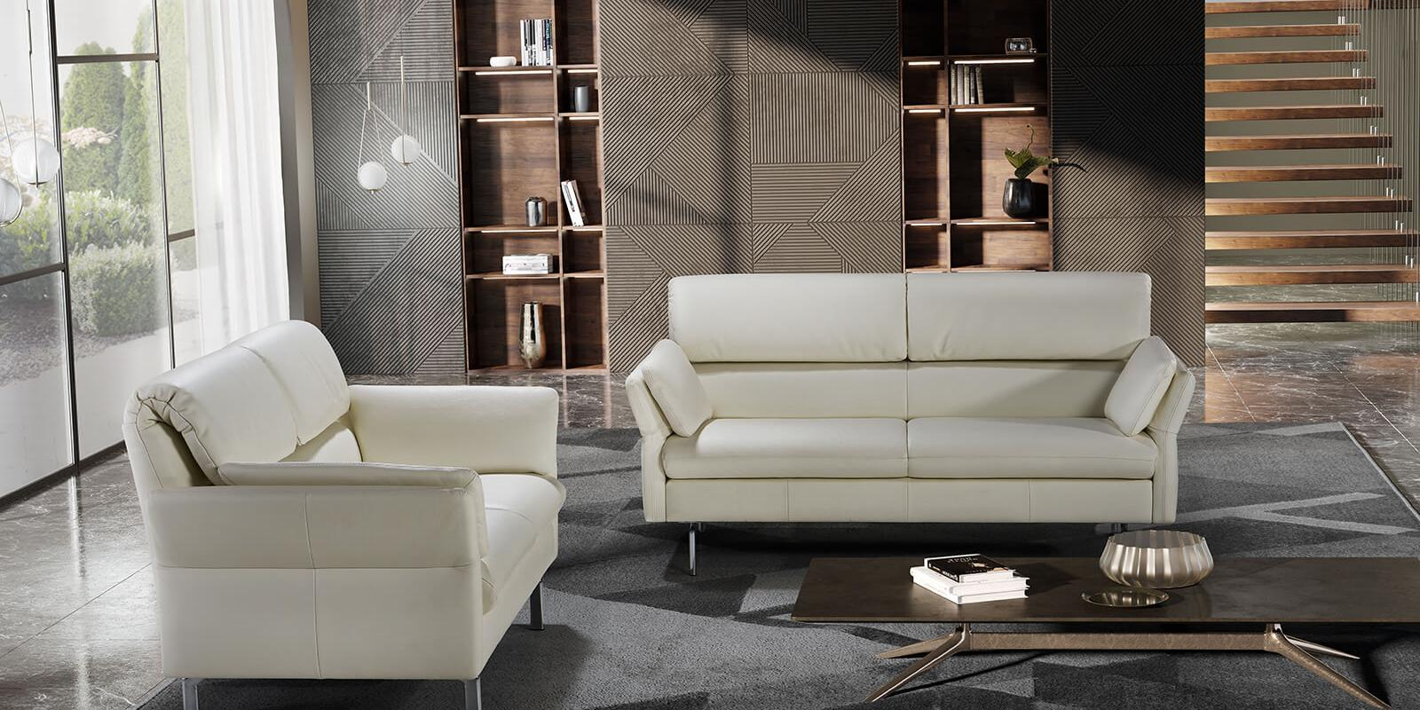 horst collection avegno sofa design moebel weiss leder