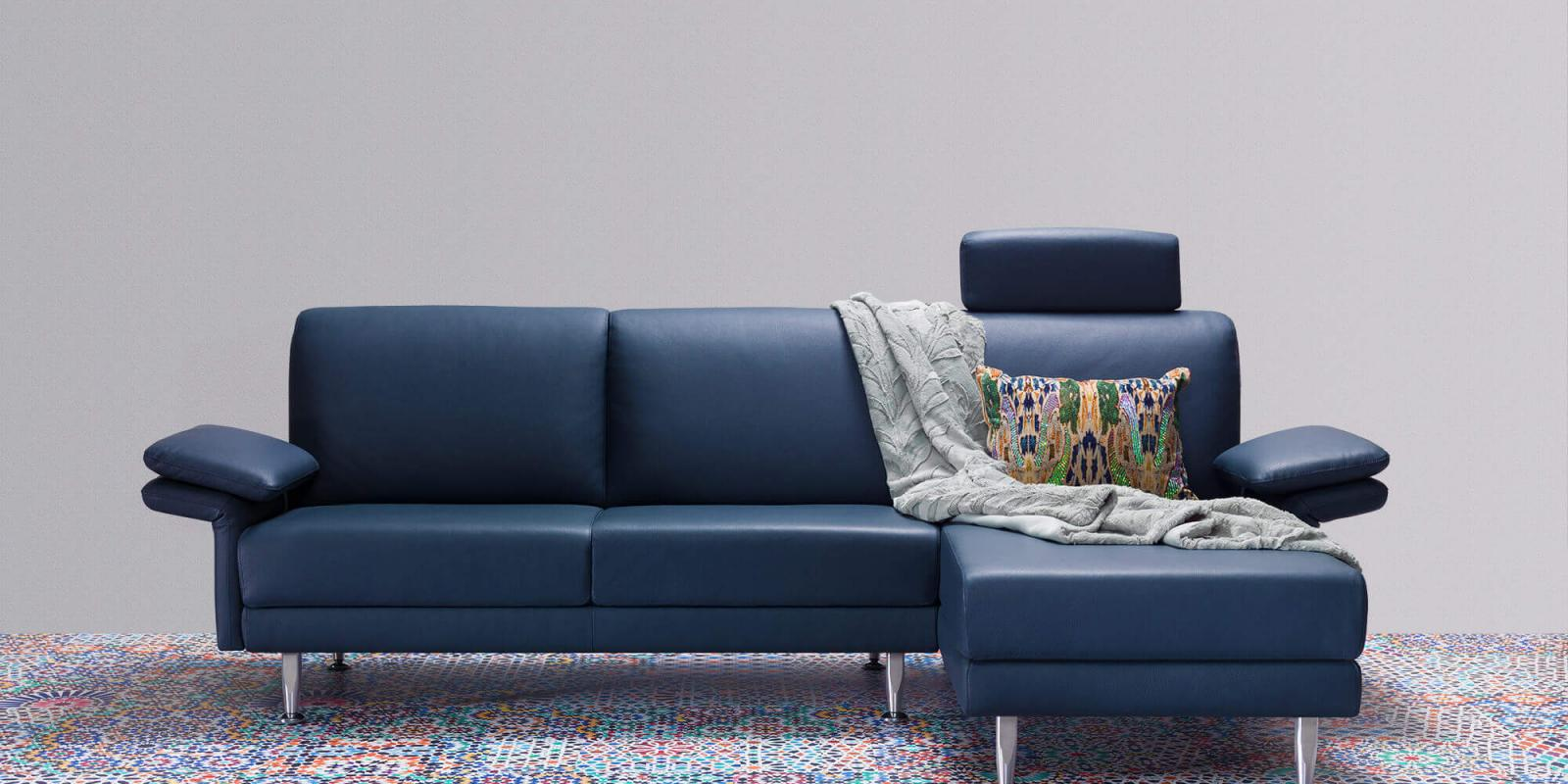 horst collection melide sofa design moebel blau leder