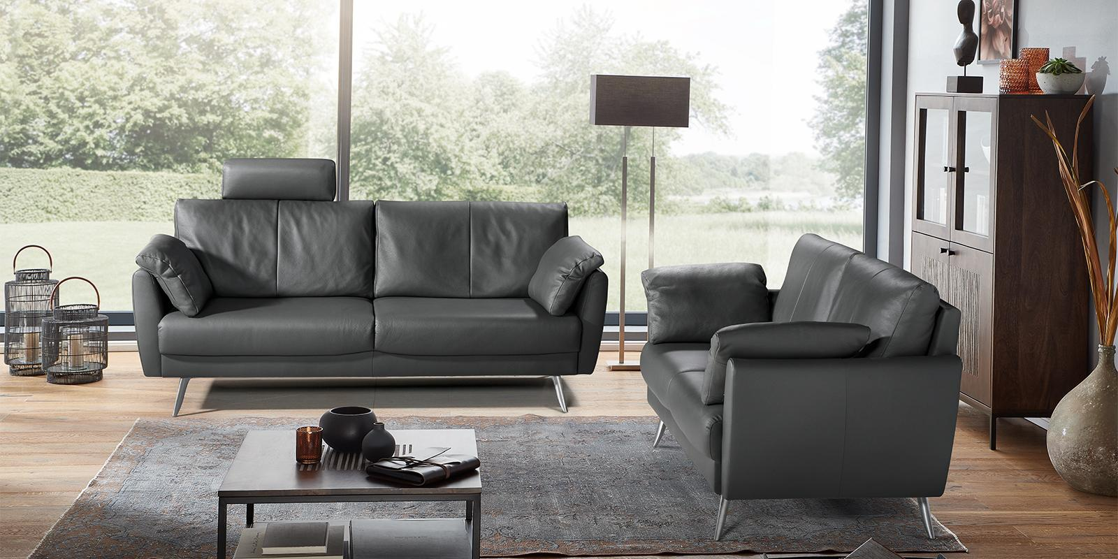 horst collection visp sofa design moebel schwarz leder